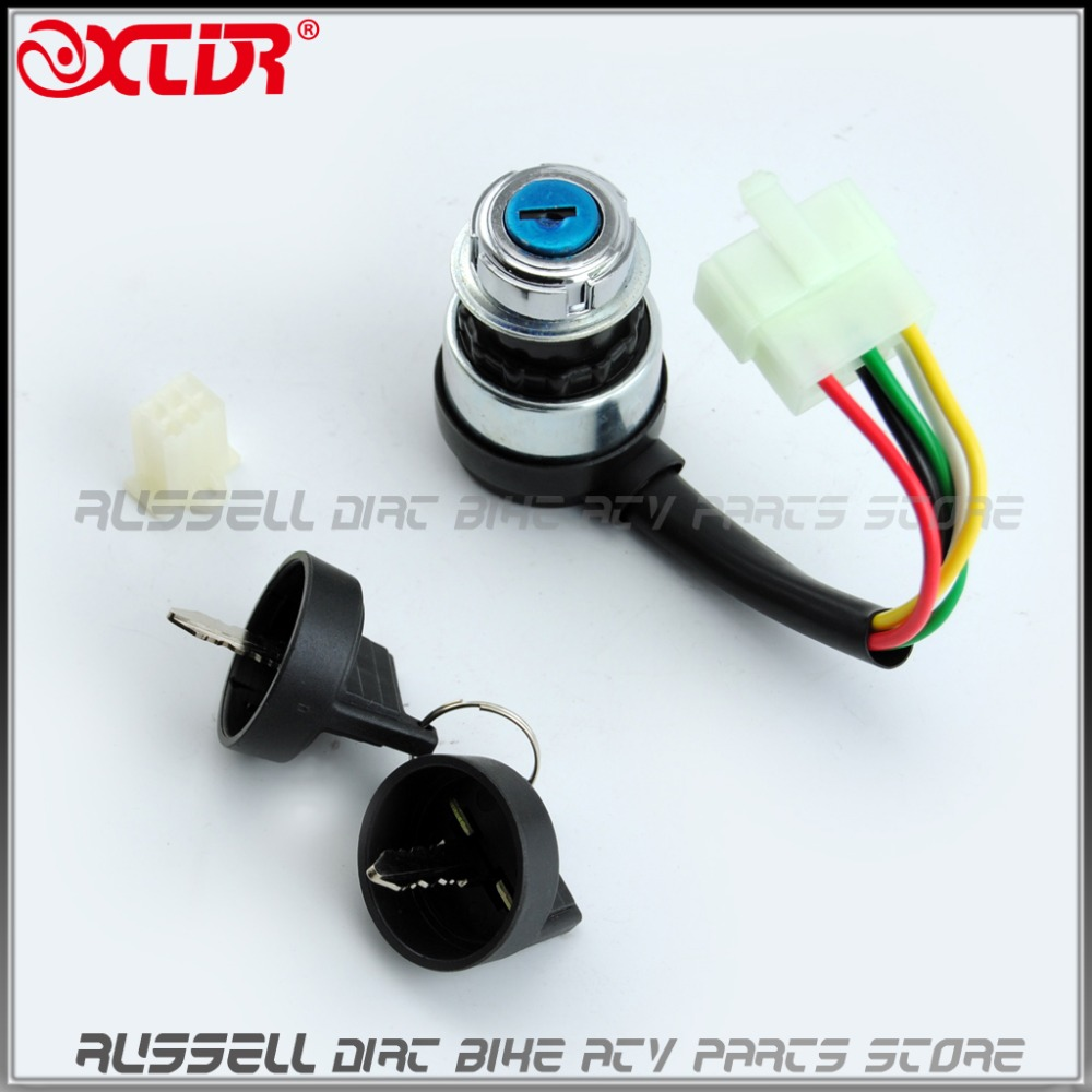 5 wires pin ignition key switch lock for chinese 150cc 250cc     on  hammerhead