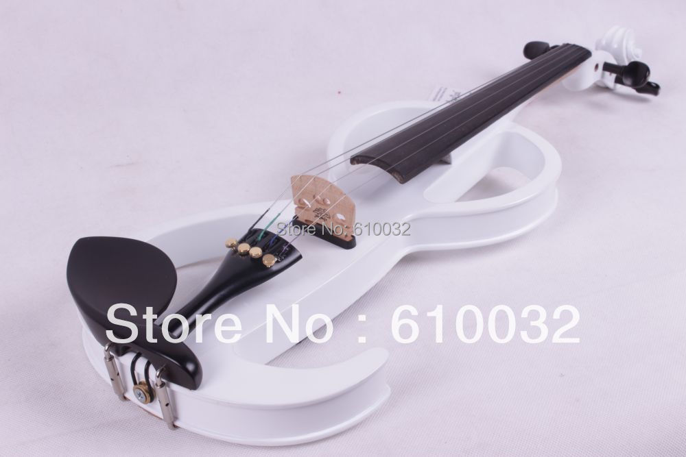 4/4 Electric Violin Solid wood 11 --29#  white   color  4string one 4 string 4 4 violin electric violin acoustic violin maple wood spruce wood big jack green color