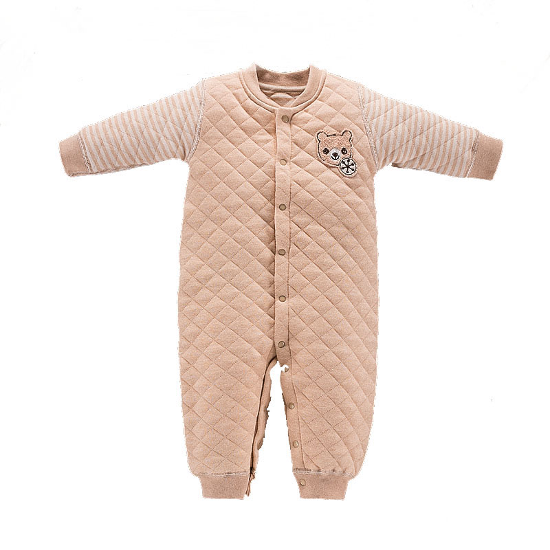 Newborn Unisex Baby Girl Boy Winter Organic Cotton Long Sleeve Rompers Clothes Infant Toddler Baby Girl Jumpsuit Onesie Overalls baby overalls long sleeve rompers clothing cotton dog anima 2017 new autumn winter newborn girl boy jumpsuit hat indoor clothes