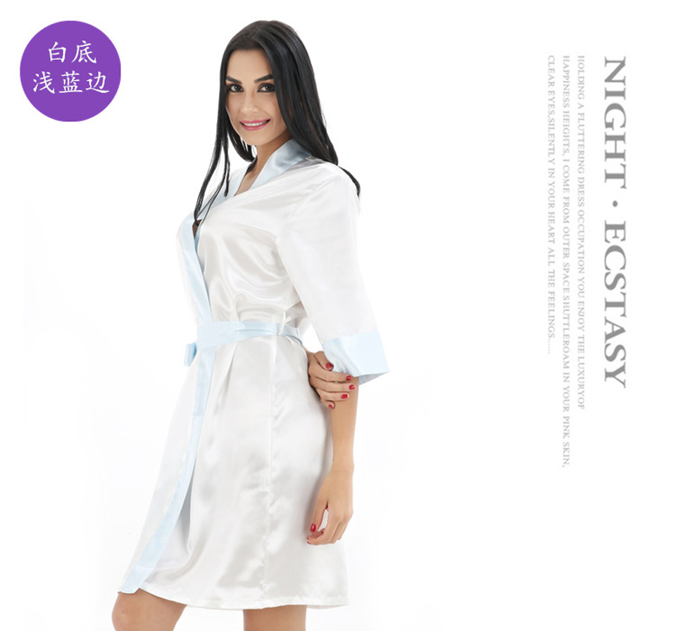 2018 Ladies sexy silk satin night dress dighties nightgown summer ... e84b4efb4f96