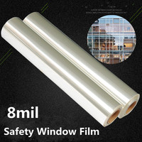 8mil Safety Security Film Window Glass Protector Self Adhesive Sticker Explosion proof Film 1.52*10m Can be Customized