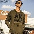 AK CLUB Brand Sweatshirt Fleece Designer Pattern Print Hoodie Cotton Soft Rib Bottom Hooded Sweatshirt Men Casual Hoodie 1505814