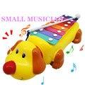 Bebê criança arrastar cachorro 8-nota xilofone instrumento musical toys figuras de ação & toy sabedoria desenvolvimento 0-12 meses vee_mall
