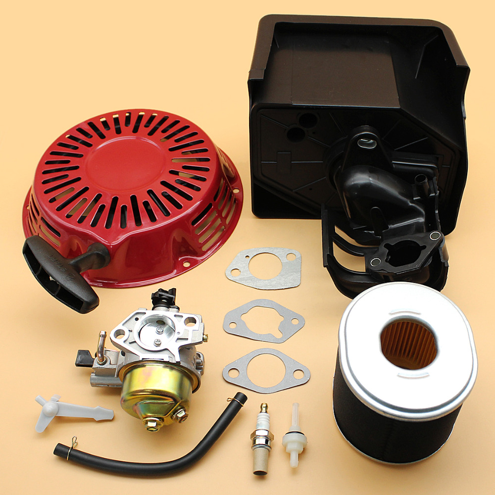 Recoil Starter Carburetor Air Filter Housing Assembly For Honda GX390 188F 13HP 5KW 6.5KW Engine Gasoline Generator Lawn MowersRecoil Starter Carburetor Air Filter Housing Assembly For Honda GX390 188F 13HP 5KW 6.5KW Engine Gasoline Generator Lawn Mowers