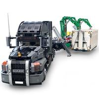 20076 2906 шт. Technic серия Mack большие наборы грузовиков, совместимые с 42078 строительными блоками кирпичи развивающие детские игрушки