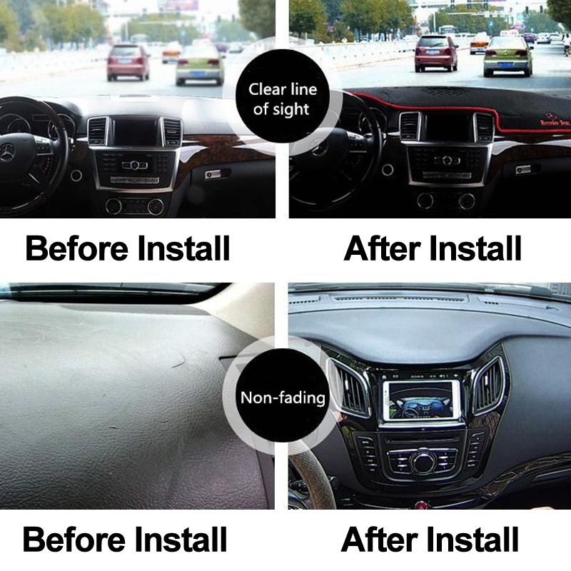Color Name : Black TFWYYJ Car Dashboard Cover Dash Mat For Toyota Noah Voxy 2014 2015 2016 2017 2018 2019 Auto Sun Shade Mat Pad Carpet Right Hand Drive