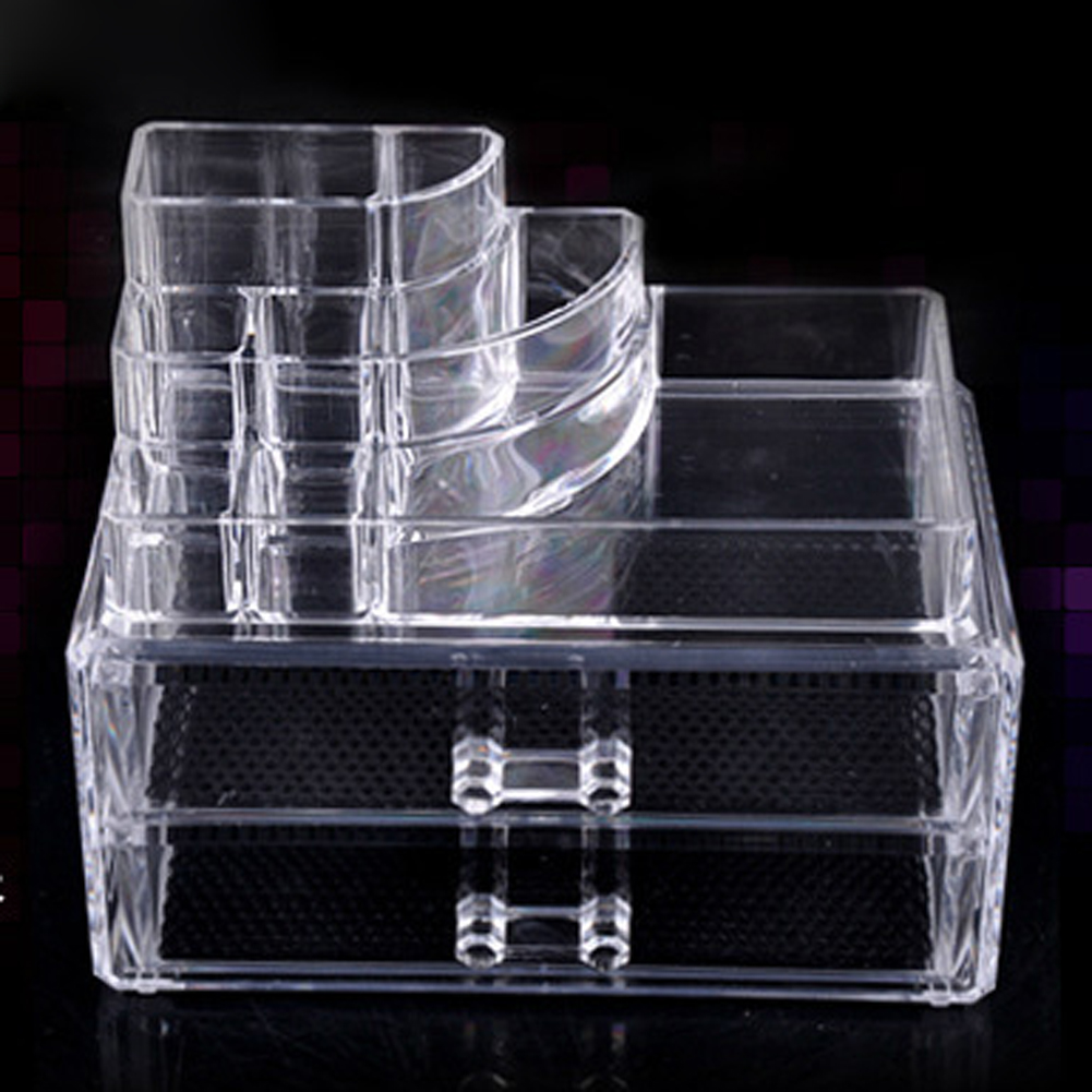 New Clear <font><b>Acrylic</b></font> Makeup <font><b>Organizer</b></font> Cosmetic <font><b>Organizer</b></font> Functional Cosmetic Storage <font><b>Drawer</b></font> Makeup Case Storage Holder Box Hot Sale image