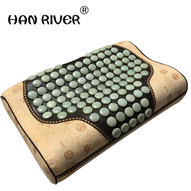 """HANRIVER """"Household jade protect healthy sleep cervical spine germanium stone massage fields 220 v voltage free shipping """""""