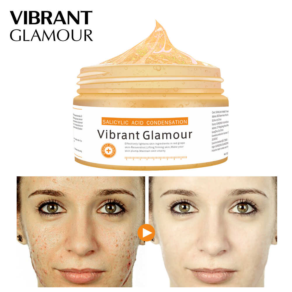 VIBRANT GLAMOUR Salicylic Acid Condensation Cream Remove Acne Face Mask Oil Control Skin Care Treat Pigmentation Corrector 100g
