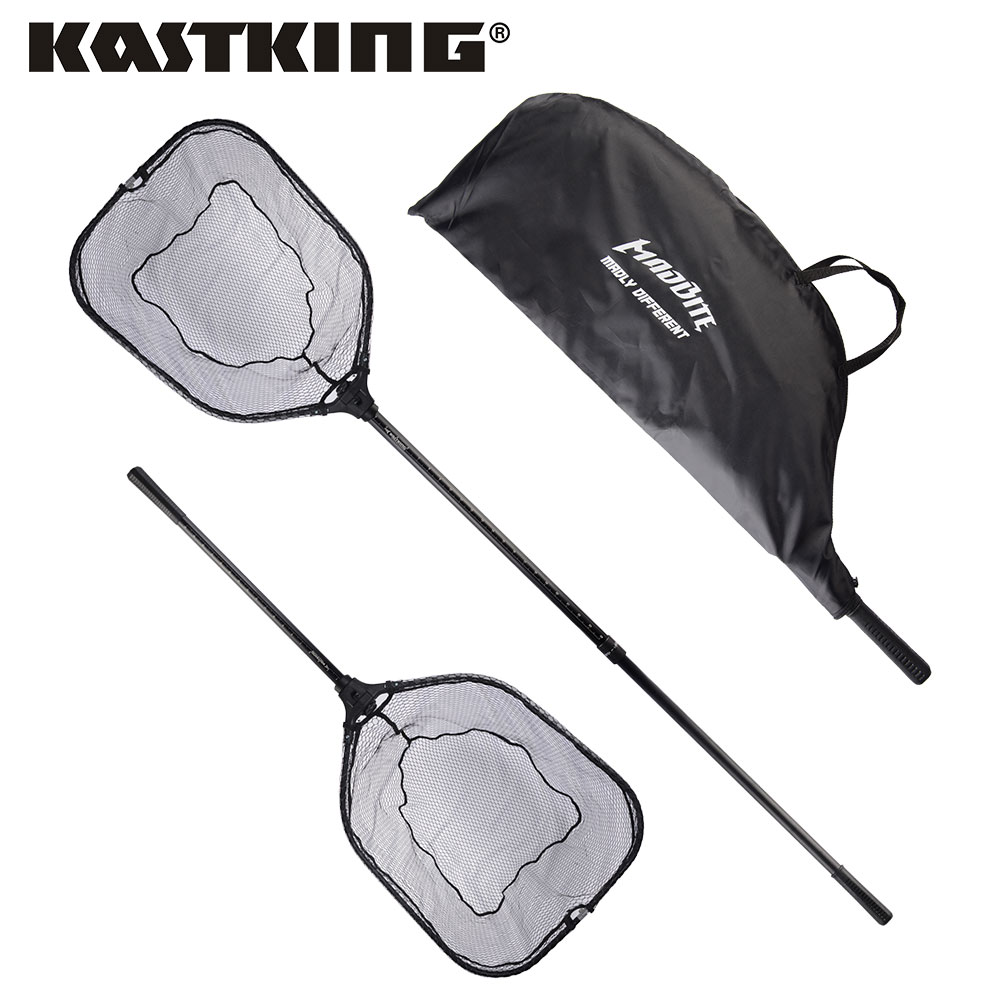 KastKing 115cm 193cm Extendable Folding Fishing Net Aluminum Handle With Rubber Grip Super Strong Easy to