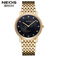 NEOS Ultra – thin Style Fashion Men's Watch Flash Drill Luxury Waterproof Ladies Watch Simple Two – pin Couple Watches Beautiful