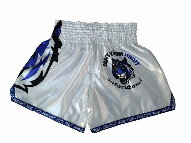 Hot Dijual Pria Disublimasikan Cetak Kickboxing Celana Pendek Muay Thai dengan Harga Murah MMA Celana Pendek Homme Pantalones Boxeo Batang Melawan Tinju Pakaian