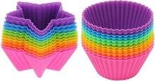 24 Teile/satz Stern Runde Form Muffin Cupcake Backen Fondant Muffin Kuchen Kuchen-zwischenlagen Formen Kuchen Dekorieren Tools ZH054