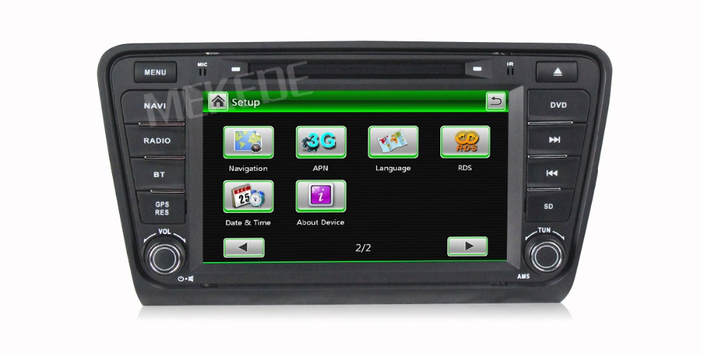 original menu car audio dvd player for Skoda Octavia 2 free shipping with free map card gps navigtaor radio ipod bt CAN-BUS