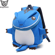 BAIJIAWEI Children School Bags Cartoon Minnie Kids Bag Dinosaur Backpacks Kindergarten aged 1-6 Preschool Backpack Kids Mochila(China)