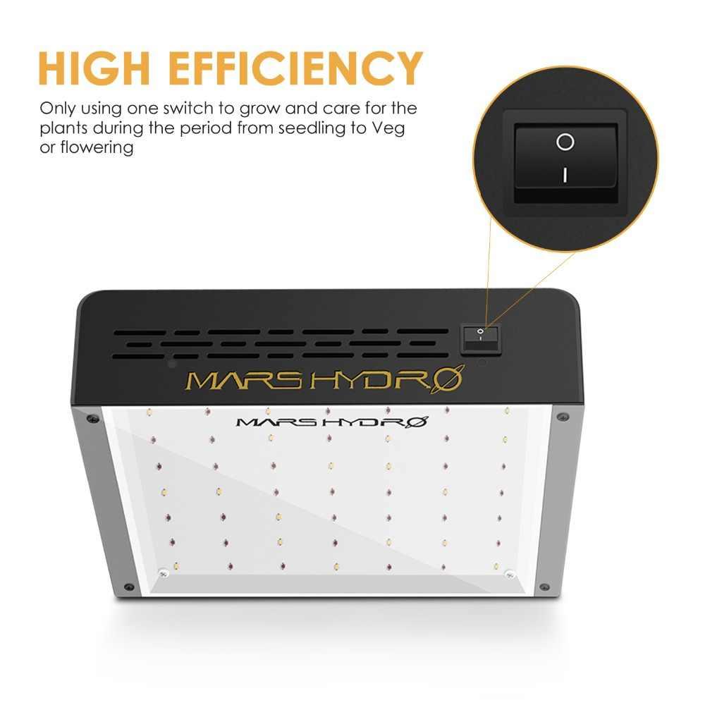 MarsHydro ECO 300W LED Coltiva La Luce per Crescere Tenda Piante di Coltura Idroponica Spettro Completo Crescere Lampada da Semina per raccolto