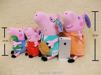 Original 4Pcs/set Peppa Pig George Animal Stuffed Plush Toys Cartoon Family Friend Pig Party Dolls Girl Children Birthday Gifts