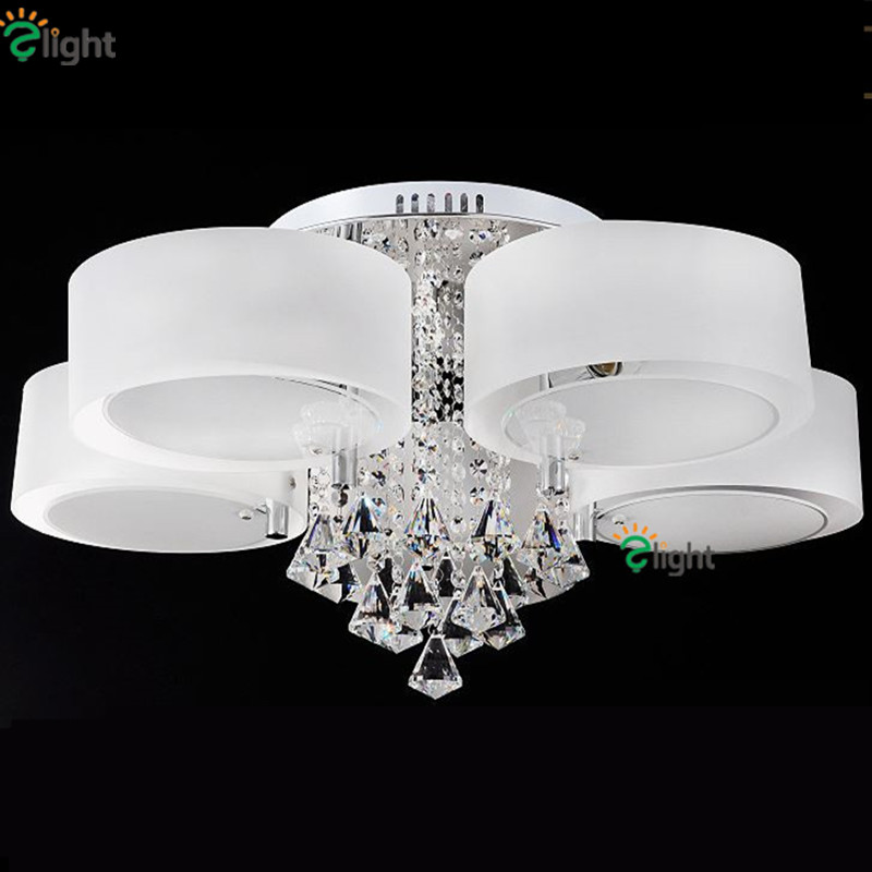 modern lustre crystal dimmable led chandeliers lighting luminaria acrylic ring dining room led. Black Bedroom Furniture Sets. Home Design Ideas
