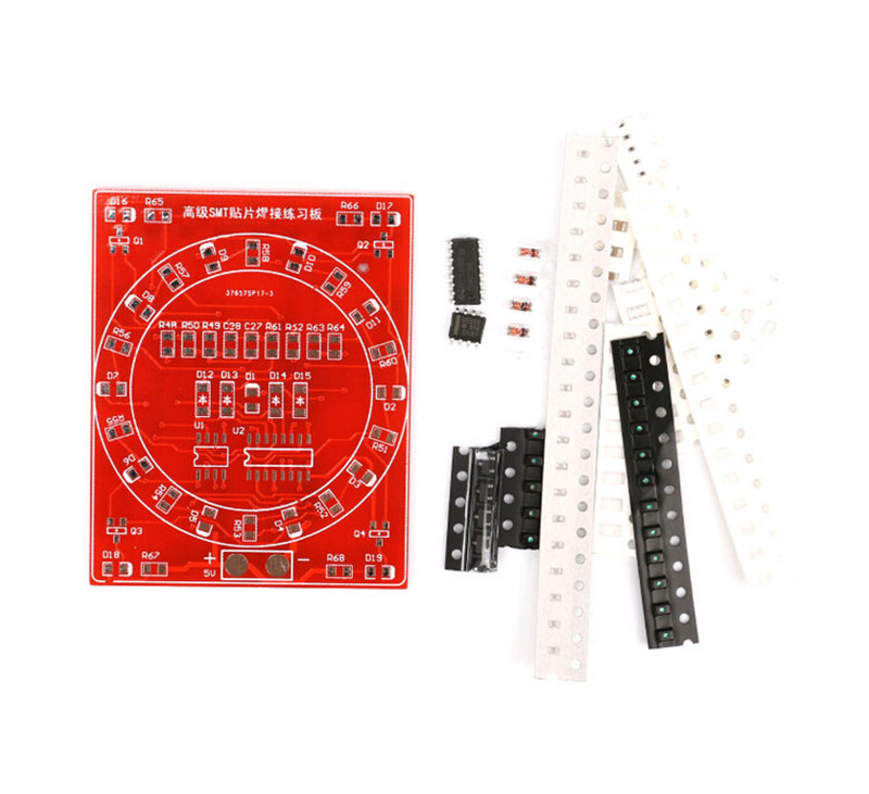 Hot!DIY Kit Electronic Kit For Self-Assembly 1Set SMD SMT Components Welding Practice Board Soldering Skill Training Beginner