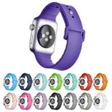 HOKE Applewatch silicone sport watch strap for apple band 42 mm 38mm rubber bracelet wrist iwatch 123
