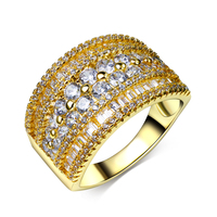 Myself Jewellery Free Shipping Unique Design Clear AAA Zircon Luxury Gold White Gold Plated Fashion Women