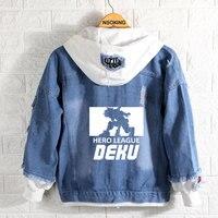 Boku no My Hero Academia hoodie Anime Midoriya Izuku cosplay Cowboy coat Denim jacket spring autumn men Jeans Hombre Outerwear