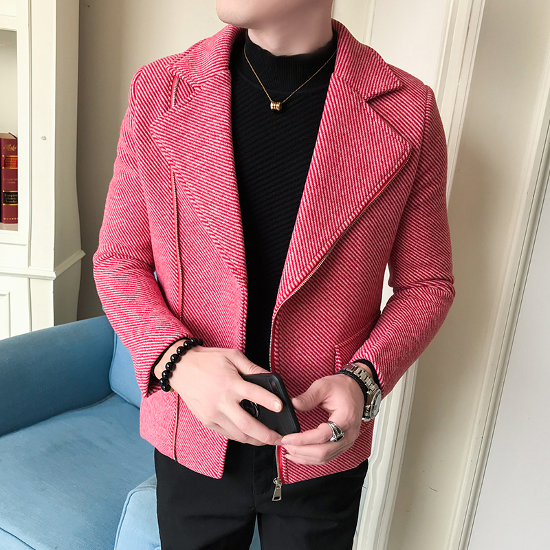 Koreanische Winter Mantel Diagonal Woolen Der Männer