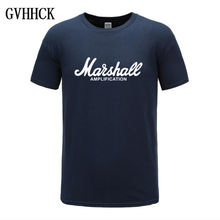 Marshall Amplication T-shirt Voor Mannen Vrouwen Casual Amps Rock Band Rock Band Metal Tops Tee Shirts Katoen Korte Mouw Cool tshirt(China)