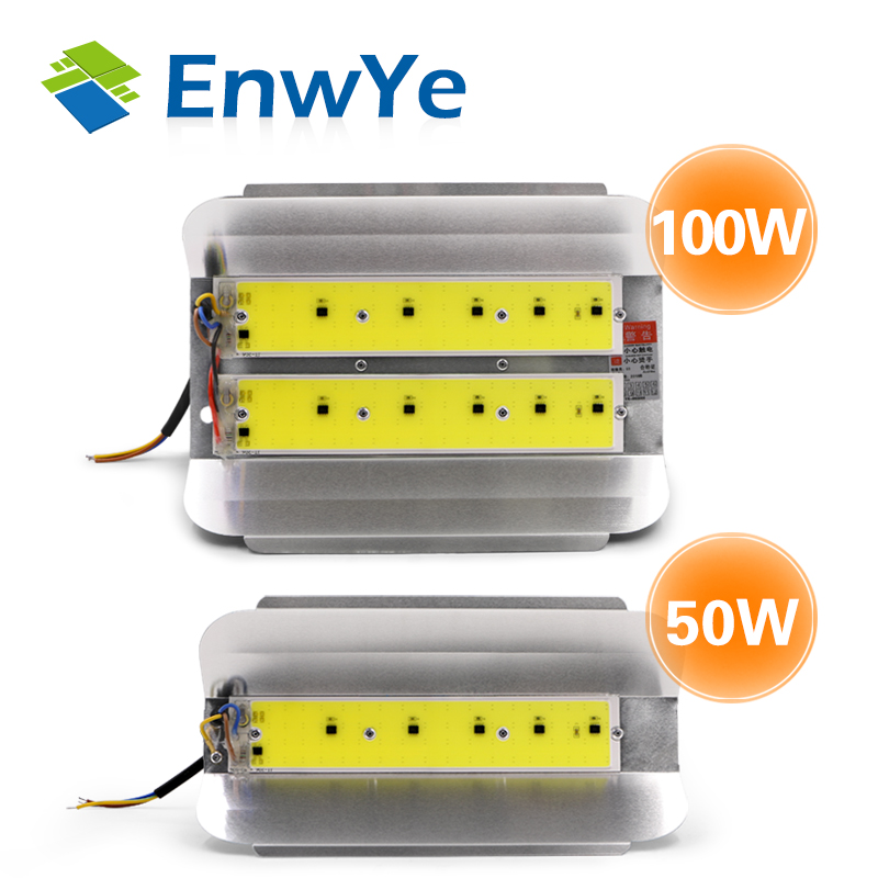 EnwYe 50W 100W COB Simple Floodlight Flood Light 220V LED Spotlight Refletor LED Outdoor Lighting Gargen Lamp Newest