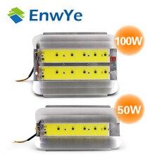 EnwYe 50 Вт 100 Вт COB простой прожектор 220 В Светодиодный прожектор Refletor LED Наружное освещение Gargen лампа новейшая