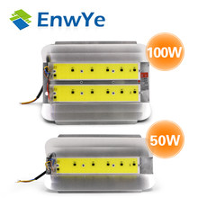 EnwYe 50W 100W COB Simple floodlight Flood Light 220V LED Spotlight Refletor LED Outdoor Lighting Gargen Lamp newest(China)