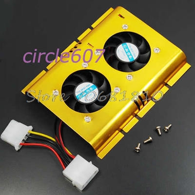 2 Cooling Fan Cooler For 3.5 Inch PC Hard Disk Drive HDD #R179T#Drop Shipping computer cooler radiator with heatsink heatpipe cooling fan for hd6970 hd6950 grahics card vga cooler