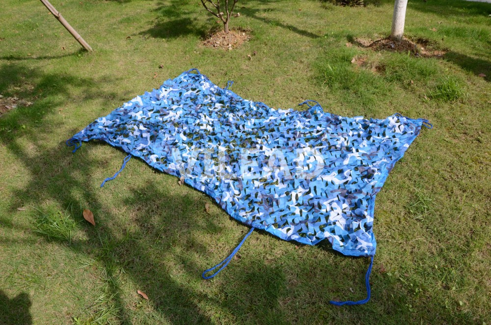 VILEAD 2.5M*6M Filet Camouflage Netting Blue Camo Netting for Camping Canopy Beach Sunshade Tent Shade Tent Sun Protection Tent outdoor camping hiking automatic camping tent 4person double layer family tent sun shelter gazebo beach tent awning tourist tent