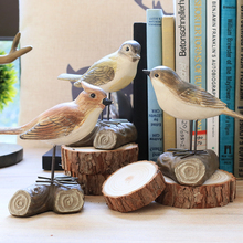 1PC American Rural Style Resin Bird Figurine Sitting Room Home Decor  Furnishing Articles Birthday Wedding Gift