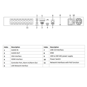 Image 5 - Hikvision oem nvr DS 7616NI I2/16 p (oem modelo: DT616 V2/p16) 16ch poe nvr para câmera poe 12mp max 2 sata gravador de vídeo em rede