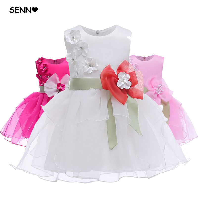 Anime Ball Gown White With Red Roses: White Rose Pink Tulle Wedding Girl Dress Sleeveless Floral