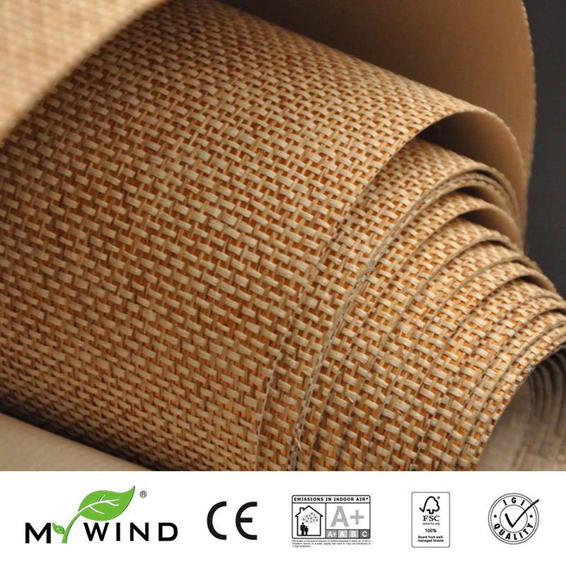 2019 MY WIND Grasscloth Wallpapers Luxury Natural Material papier peint Innocuity 3D Paper Weave Design Wallpaper In Roll Decor2019 MY WIND Grasscloth Wallpapers Luxury Natural Material papier peint Innocuity 3D Paper Weave Design Wallpaper In Roll Decor