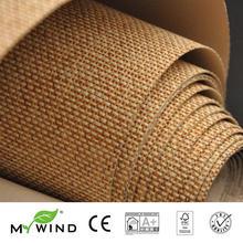 2019 MY WIND Grasscloth Wallpapers Luxury Natural Material papier peint Innocuity 3D Paper Weave Design Wallpaper In Roll Decor