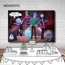Vinyl Photography Backgrounds Cartoon Junior Vampirina Family Backdrop Girls Birthday Party Backgrounds Home Decor Photo Studio(China)