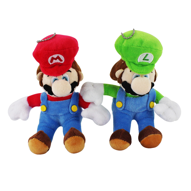 2pcs set Super Mario Bros Mario Luigi Cute Plush Keychain Toys Soft Stuffed  Dolls Kawaii Pendant Kids Birthday Gift c71a5c4a9