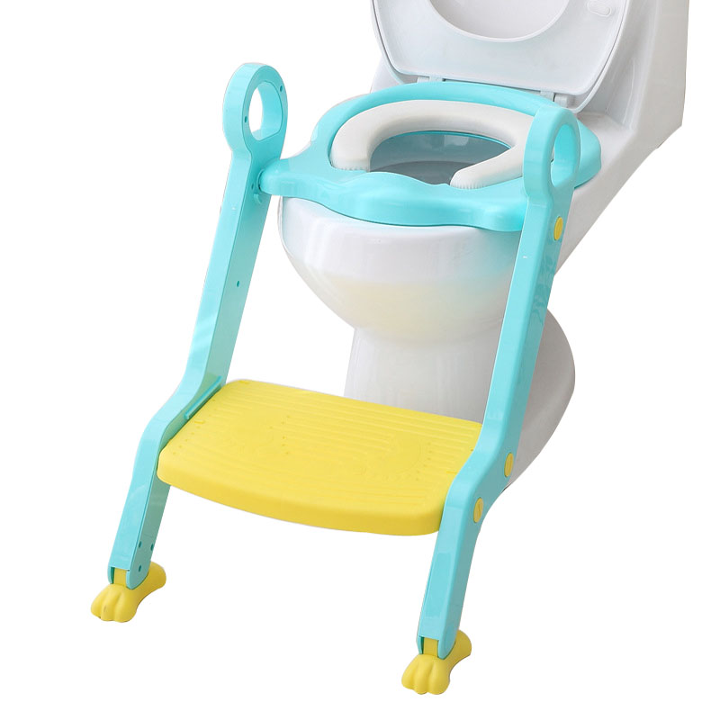 Infant Toilet Folding Ladder Toilet Trainer Chair Baby Toilet Seat Child Potty Step With Adjustable Ladder Children Potty Seat baby infant high chair seat cover mat waterproof feeding eating place mat