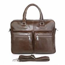 2016 New Man Handbag Genuine Leather Business Messenger Bag Men Computer Shoulder Bag 15.6 inch vintage briefcase LI-1510