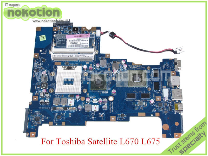 NOKOTION NALAA LA-6042P Rev 1.0 MB K000103790 For toshiba satellite L670 L675 laptop motherboard HM55 ATI HD5650M graphics nokotion pt10an dsc mb rev 2 1 laptop motherboard for toshiba satellite c50 c50d em2100 cpu amd 216 0841000 ddr3 mainboard