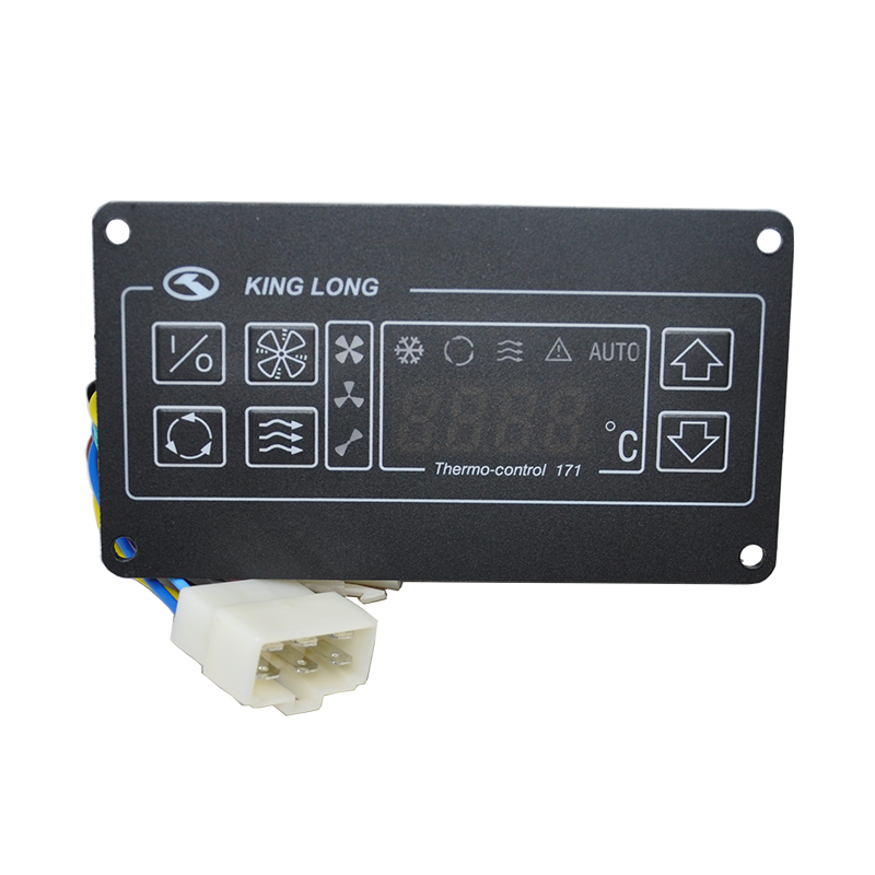 ФОТО Auto Bus A/C Aircon Airconditioning Spare Parts 24V Climate Control Panel SK-17-1Y for KING LONG Thermo Control 171