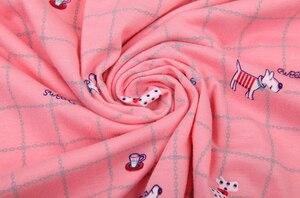 Image 2 - Plus größe 100% baumwolle kurze pyjamas sätze frauen sleeveless XXXXXL 130KG sommer pijama nachtwäsche nette cartoon rosa frauen pyjamas