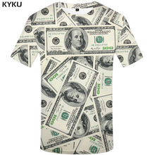 KYKU Dollar T Shirt Men Money Tshirts Gothic 3d T-shirt Funny T Shirts Hip Hop Tshirt Cool Mens Clothing 2018 New Summer Top(China)