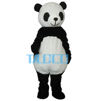 Дешевые Новые Свадебные панда талисман костюм нарядное платье для взрослых Размеры
