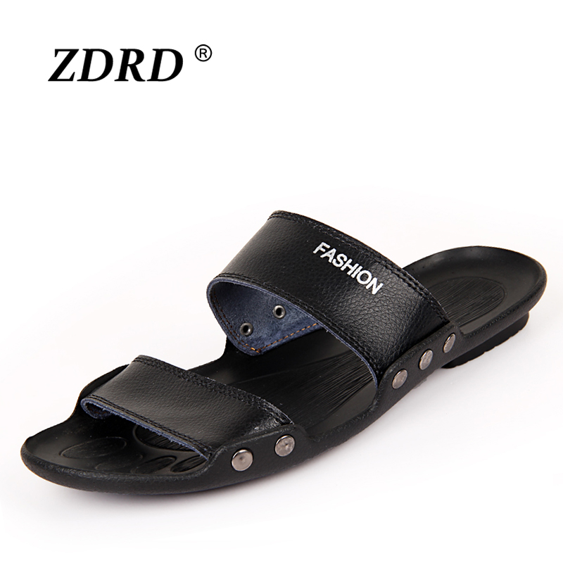 a69a1409bb7b3 Men s Sandals Slippers Genuine Leather Cowhide Sandals Outdoor Casual Men  Leather Sandals for Man-in Men s Sandals from Shoes