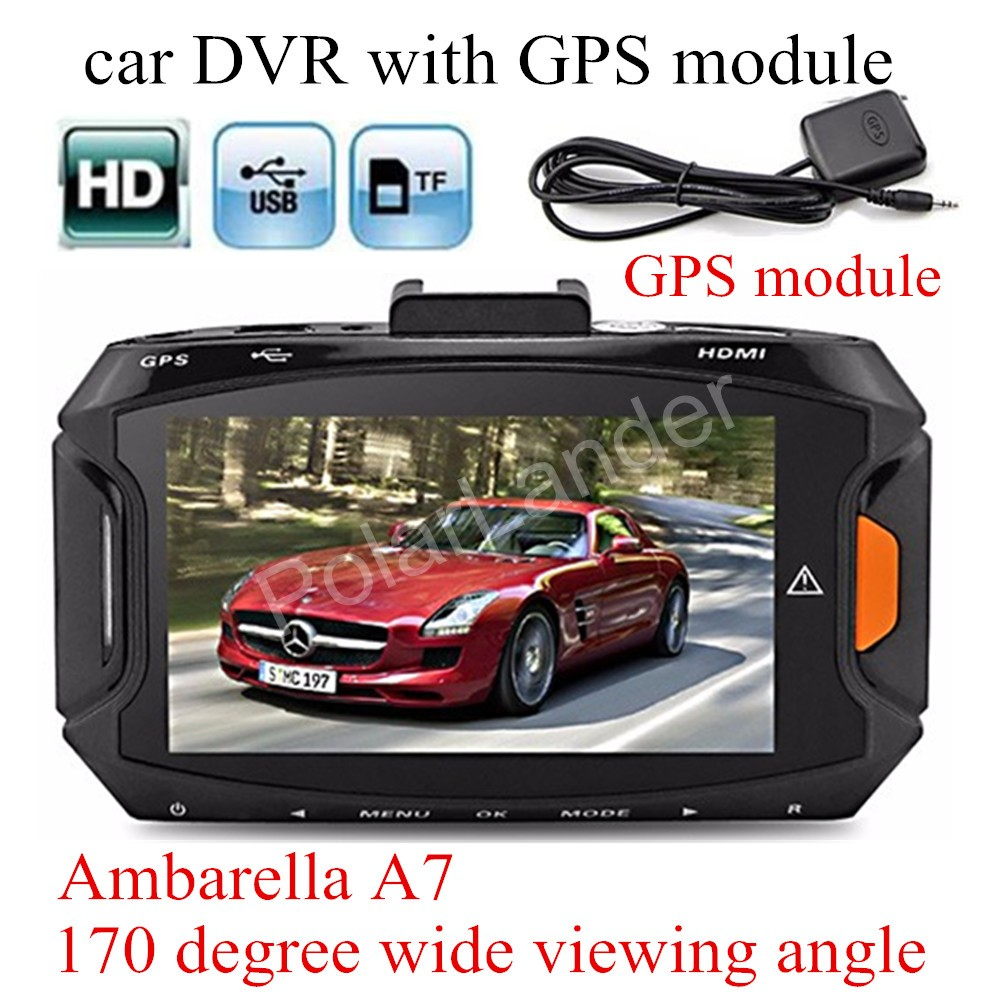 with GPS module Ambarella A7 Car DVR GS90A Camera HD Recorder Night Vision Dash Cam digital video camcorder track record carcam gs90a ambarella a7 car dvr camera hd 2 7 inch dash cam 170 degree wide viewing angle camcorder with gps module