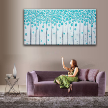 Hand Painted Oil Painting Home Decoration High Quality Canvas Flower Knife Painting Pictures        NOFramework